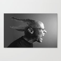 Reptilian Thoughts, Draconian Actions. Canvas Print