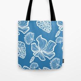 Blue Tropicana Tote Bag
