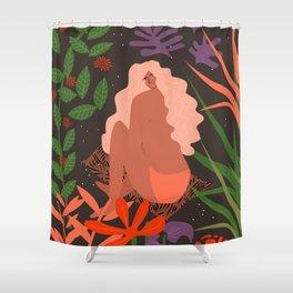 Girl in Botanic Garden Shower Curtain