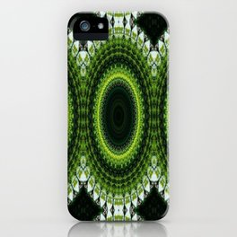 CHRISTMAS GREEN MANDELA CIRCLES FOR DECOR AND CLOTHING 2020 iPhone Case