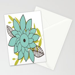 Blue Flower Stationery Cards