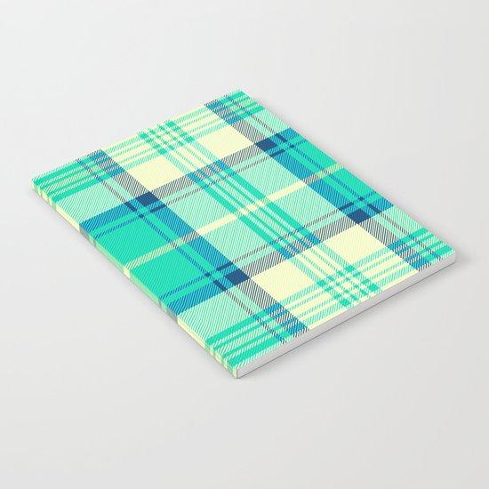 Turquoise Tartan Notebook