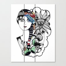 Cactus Eye Pop Style Canvas Print