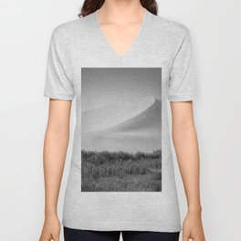 Field Mountain (Black and White) Unisex V-Neck
