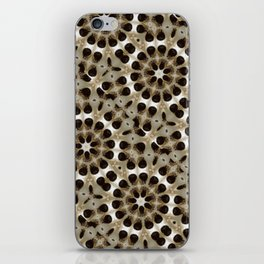 Fabric Pattern Study in Turkish Coffee Culture iPhone Skin