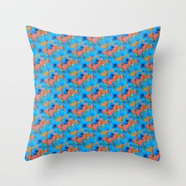 BLOOMING POPPIES PATTERN IV Throw Pillow