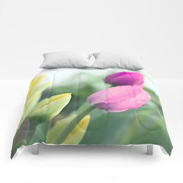 Colorful tulips 2 Comforters
