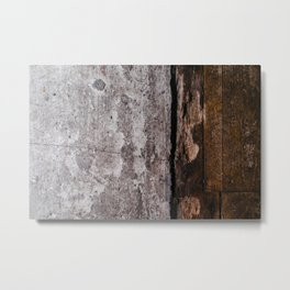 CONCRETE - WOOD - WALL - DOOR - TEXTURE Metal Print