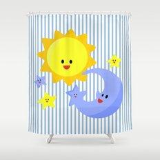 good morning, good night Shower Curtain
