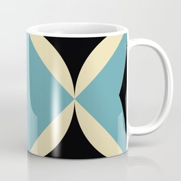 Frontal Fishes with squared blue mouths in a black deep sea. Coffee Mug