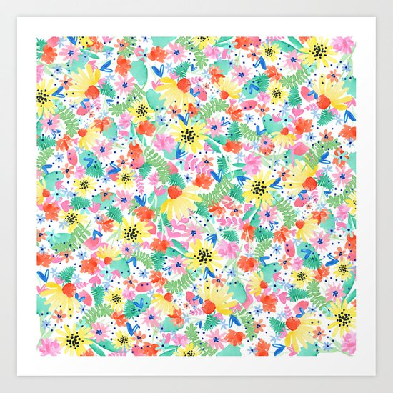 Flower Burst Art Print