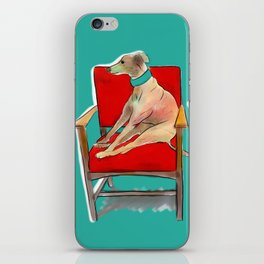animals in chairs #14 The Greyhound and the Hare iPhone Skin