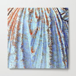 Caryatid in Blue Metal Print