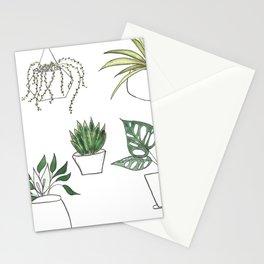 Meraki Potted Houseplants Stationery Cards