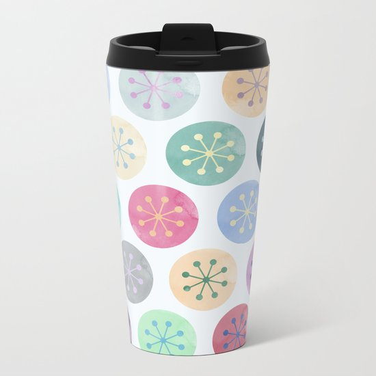Watercolor Lovely Pattern V Metal Travel Mug