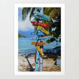 All Roads Lead to Happiness Art Print
