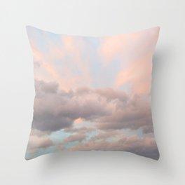 Milkshake Sky Throw Pillow