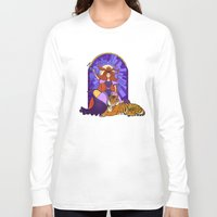 stained glass Long Sleeve T-shirts featuring Stained glass by Rafapasta