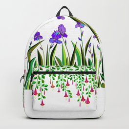 A Colorful Garden of Iris and Trumpets, Hanging Garden Backpack