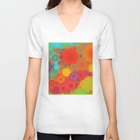 circles V-neck T-shirts featuring Circles by Mr and Mrs Quirynen
