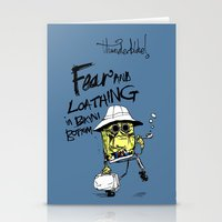 fear and loathing Stationery Cards featuring Fear and Loathing in Bikini Bottom by thunderbloke!
