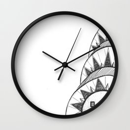 Chrysler Building Drawing Wall Clock