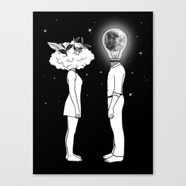 Day Dreamer Meets Night Thinker Canvas Print