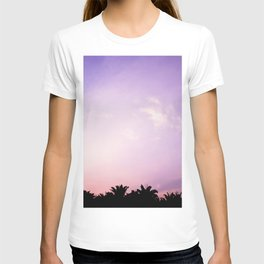 Blush pink purple sky T-shirt