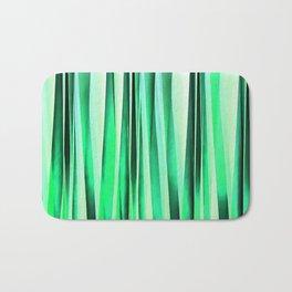 Turquoise Serenity Stripy Pattern Bath Mat