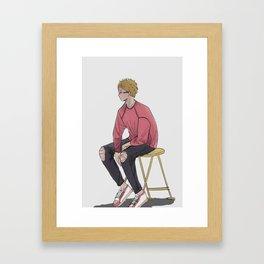 Haikyuu!! - Tsukishima Kei Framed Art Print