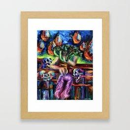 """""""Medusa's Grief"""" Painting Framed Art Print"""
