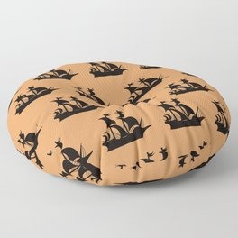 Pirate Ship Pattern  Floor Pillow