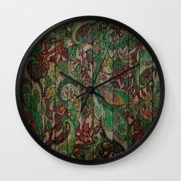 Kashmir on Wood 05 Wall Clock