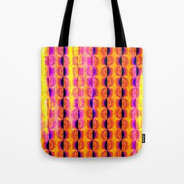 Cool Colorful Half-Moon Stripe Pattern Tote Bag