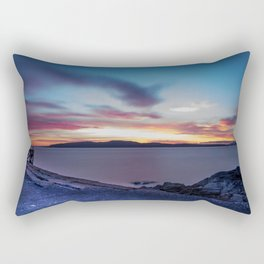 Glorious Blue Night Rectangular Pillow