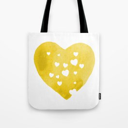 Yellow Hearts Tote Bag