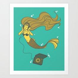 The Vinyl Mermaid Art Print