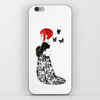 moth iPhone & iPod Skins featuring Moth by Freeminds