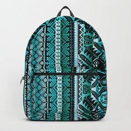 fair isle star in teal Backpack
