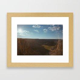 Coal Mine Canyon Framed Art Print