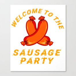 Oktoberfest Welcome to the Sausage Party 2018 Octoberfest Bratwurst Canvas Print