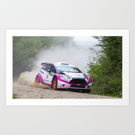 Action car Art Print