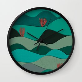 Layered Reef Wall Clock