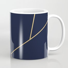 Geometric Collection (Blue & Gold) Coffee Mug
