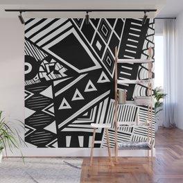 B&W Tribal Medley - Ethnic Design Wall Mural