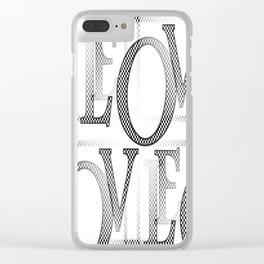 Jumbled Love Clear iPhone Case