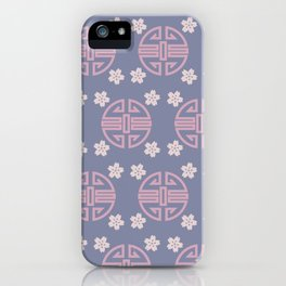 Pastel Oriental Pattern iPhone Case