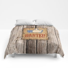 FACEBOOK LIKE WANTED-Old West Poster Style-Retro Comforters