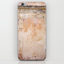 Ancient Marble Doorframe and Plaster, Crete, Greece iPhone Skin