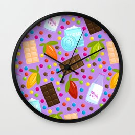 Chocolate Ingredients Wall Clock